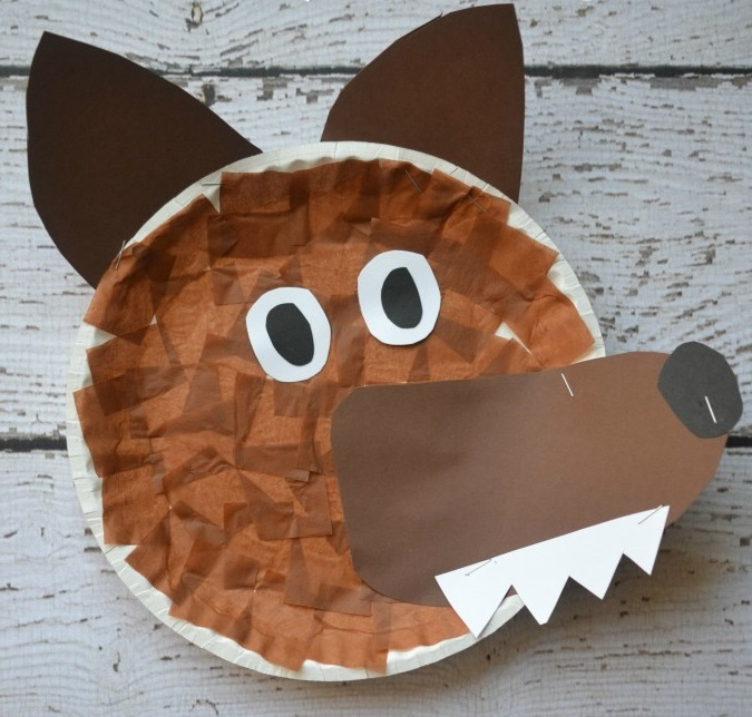 wolf craft ideas paper plate wolf nature net 3247